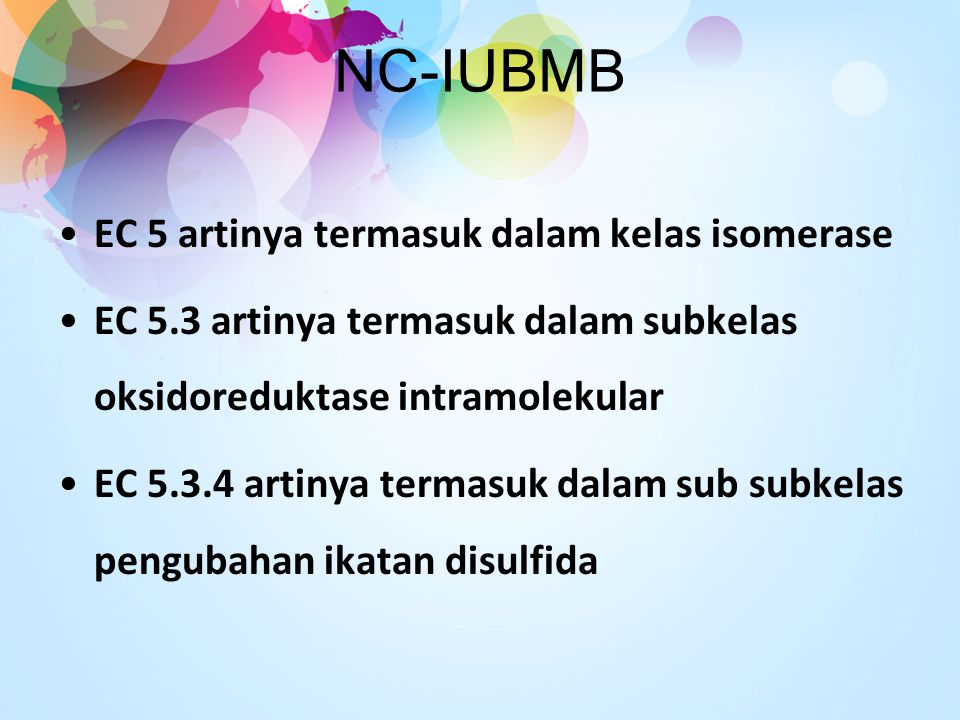 NC-IUBMB EC 5 artinya termasuk dalam kelas isomerase