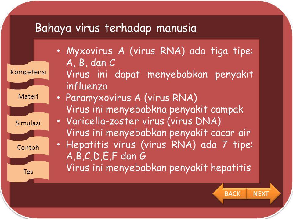 Bahaya virus terhadap manusia
