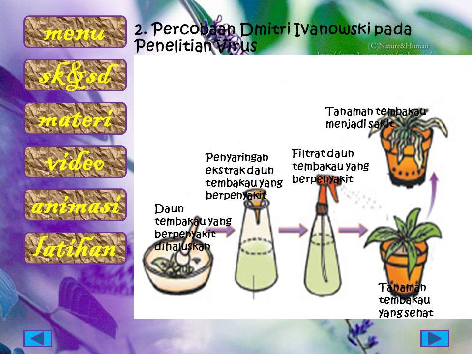 2. Percobaan Dmitri Ivanowski pada Penelitian Virus