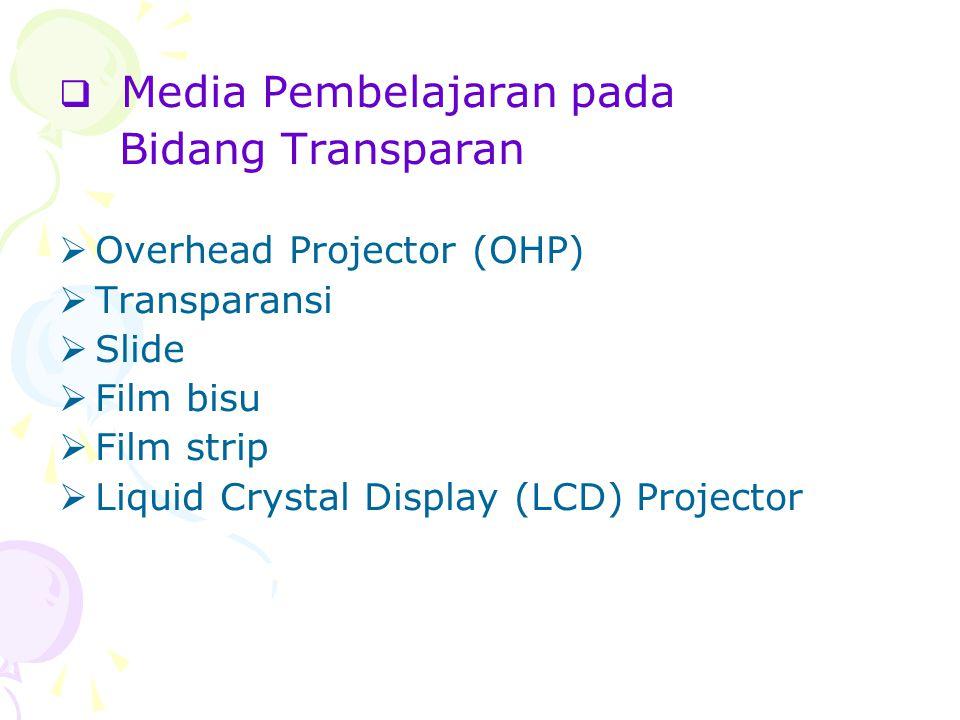 Bidang Transparan Media Pembelajaran pada Overhead Projector (OHP)