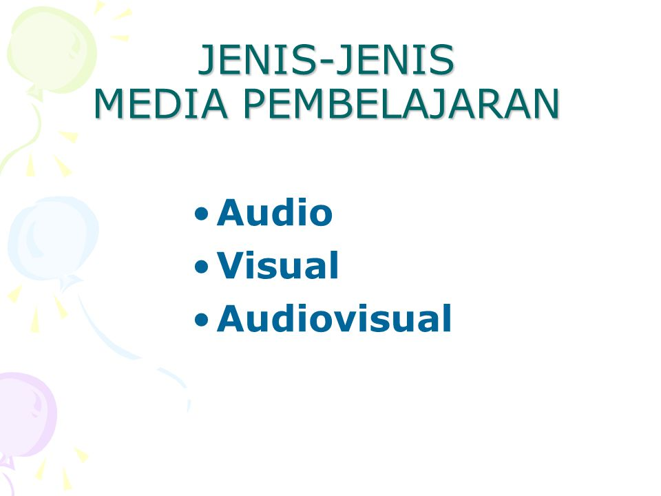 JENIS-JENIS MEDIA PEMBELAJARAN