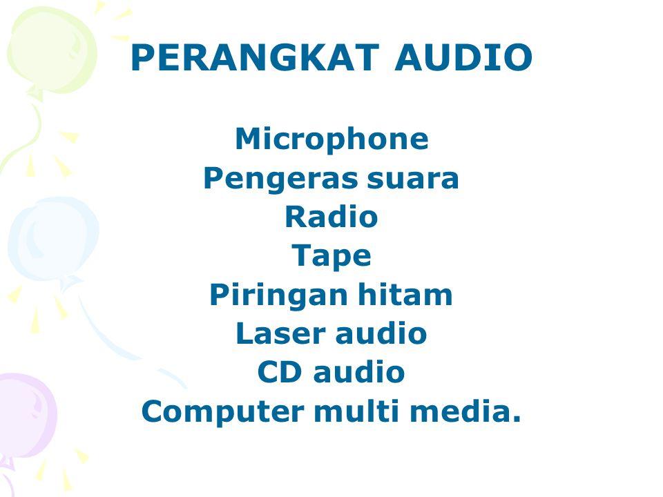 PERANGKAT AUDIO Microphone Pengeras suara Radio Tape Piringan hitam