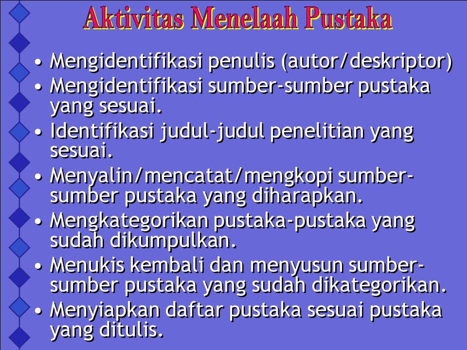 Aktivitas Menelaah Pustaka
