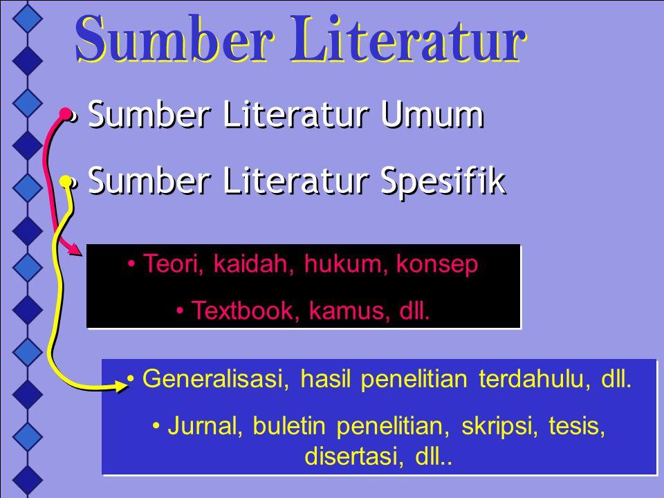 Sumber Literatur Spesifik