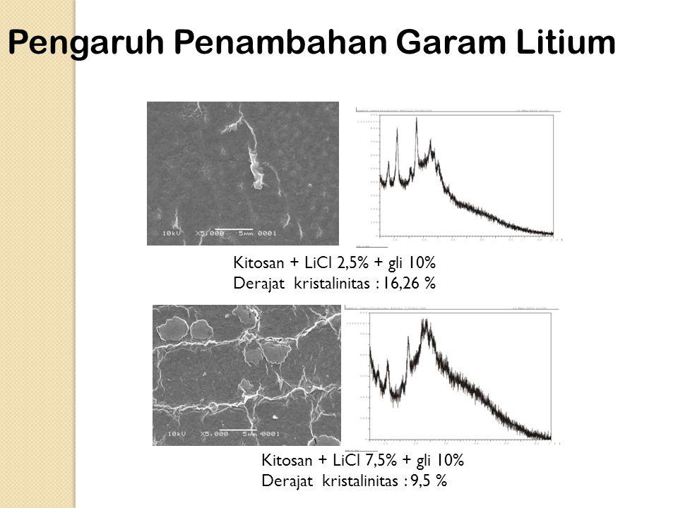 Pengaruh Penambahan Garam Litium
