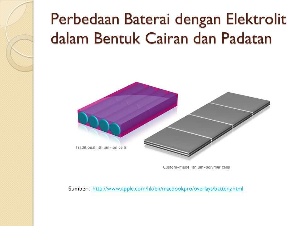Perbedaan Baterai dengan Elektrolit dalam Bentuk Cairan dan Padatan