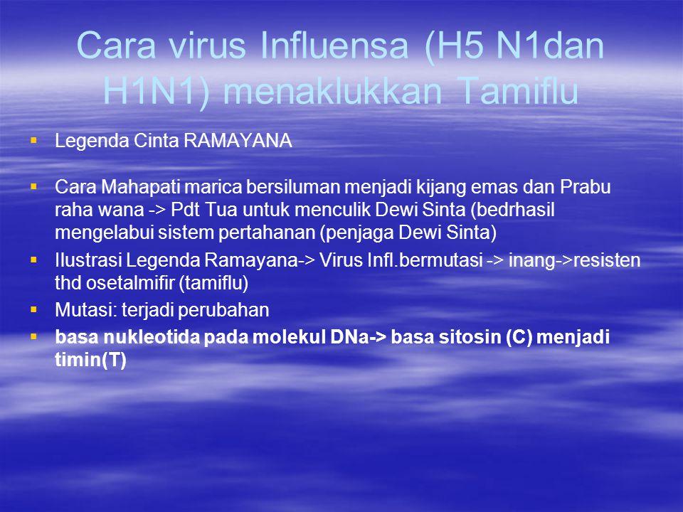 Cara virus Influensa (H5 N1dan H1N1) menaklukkan Tamiflu