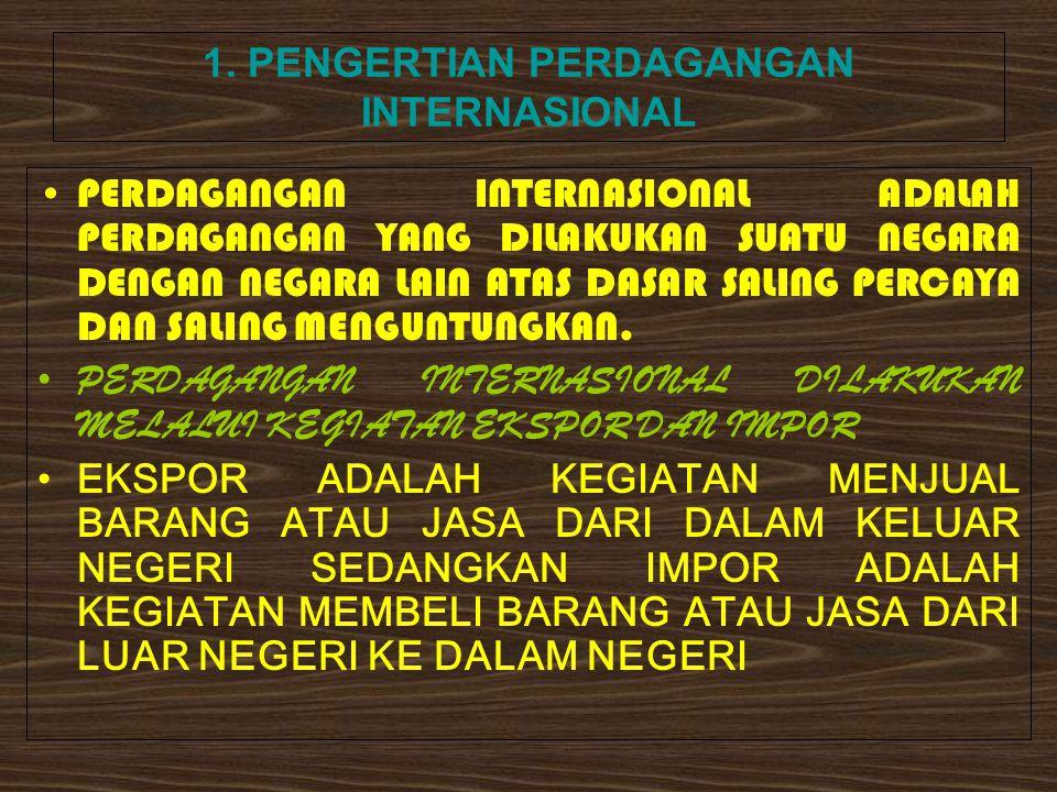 1. PENGERTIAN PERDAGANGAN INTERNASIONAL