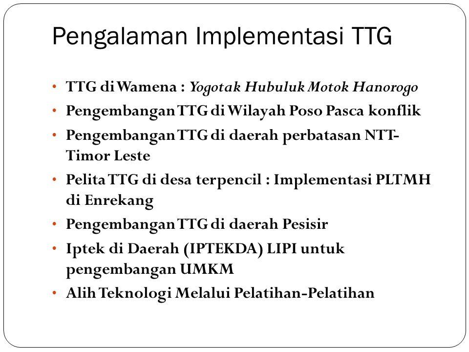 Pengalaman Implementasi TTG