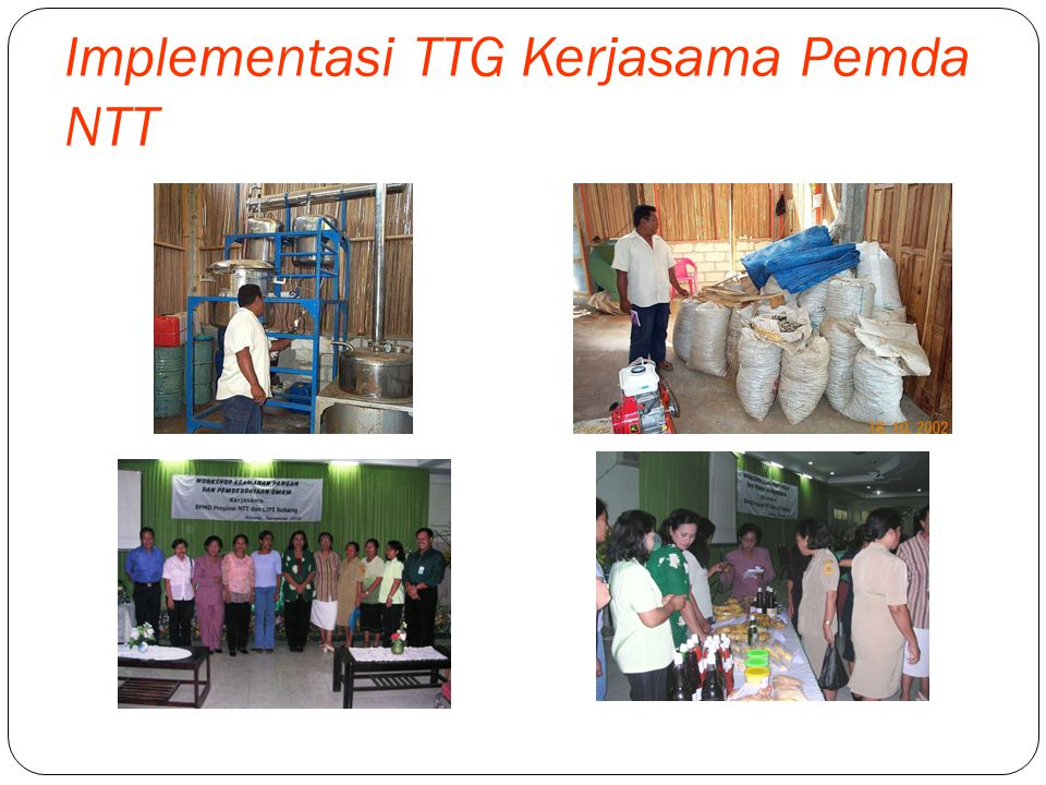 Implementasi TTG Kerjasama Pemda NTT