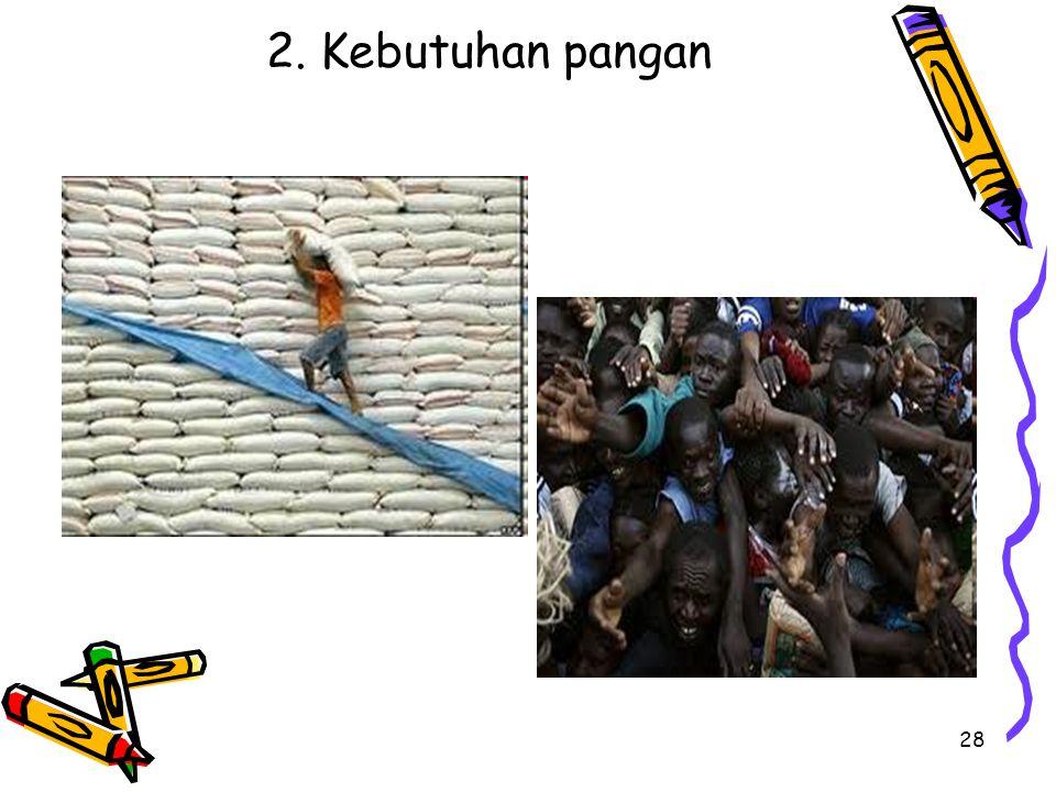 2. Kebutuhan pangan