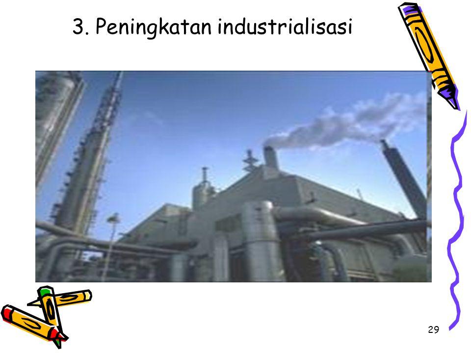 3. Peningkatan industrialisasi