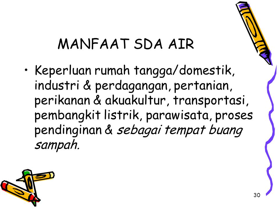 MANFAAT SDA AIR