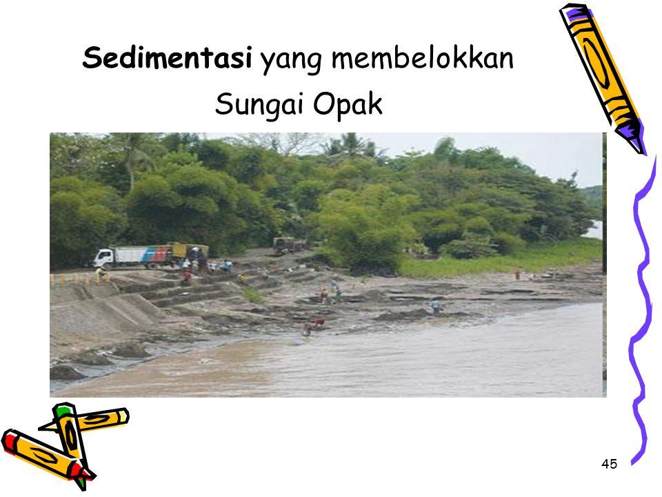 Sedimentasi yang membelokkan Sungai Opak