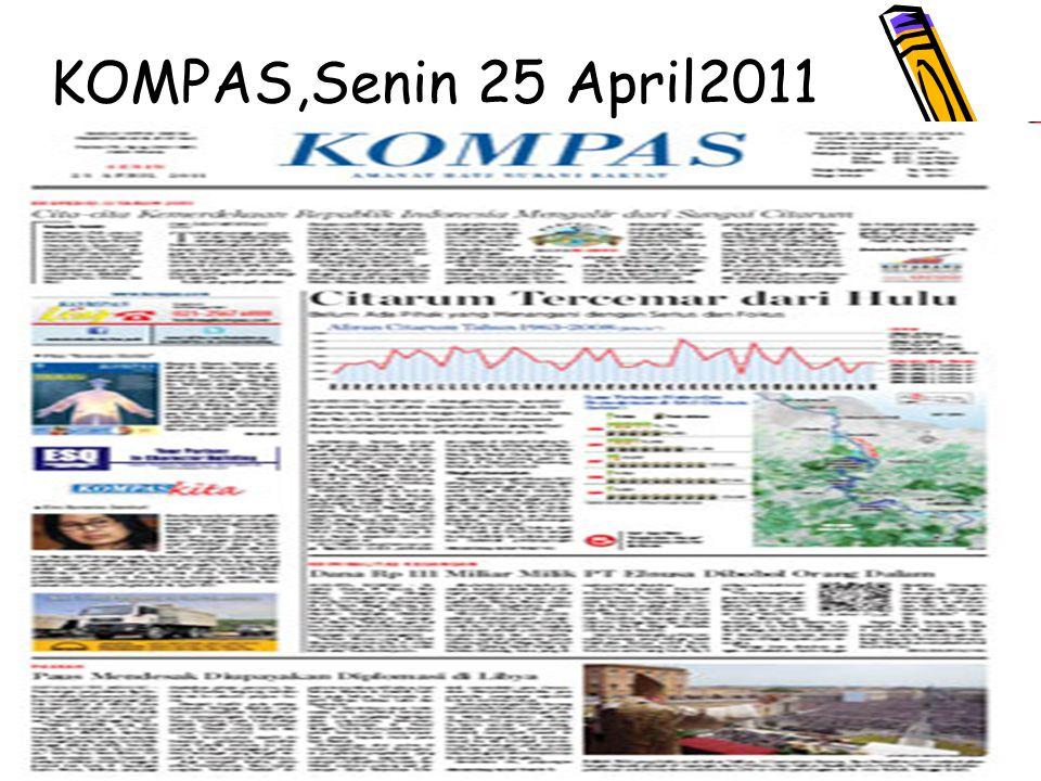KOMPAS,Senin 25 April2011