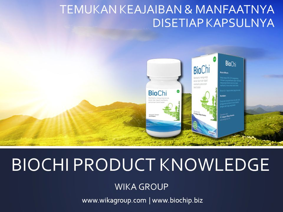 BIOCHI PRODUCT KNOWLEDGE