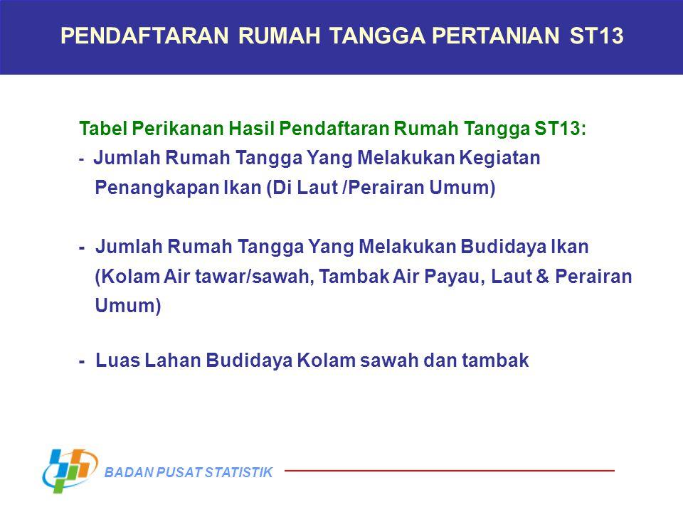 PENDAFTARAN RUMAH TANGGA PERTANIAN ST13