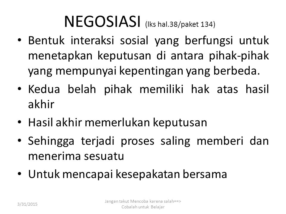 NEGOSIASI (lks hal.38/paket 134)