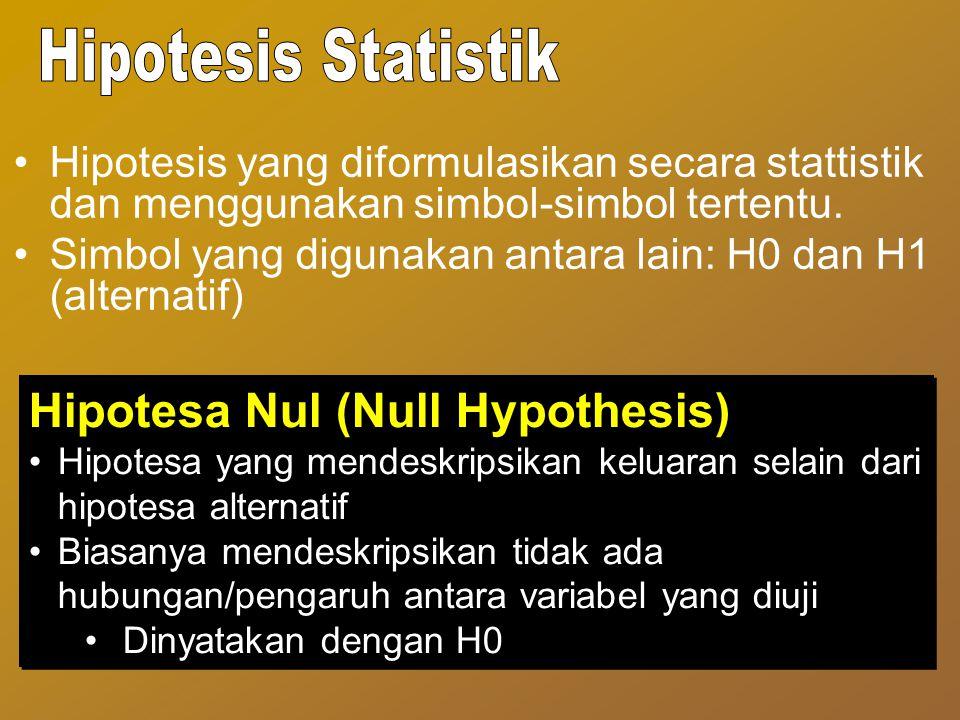 Hipotesa Nul (Null Hypothesis)
