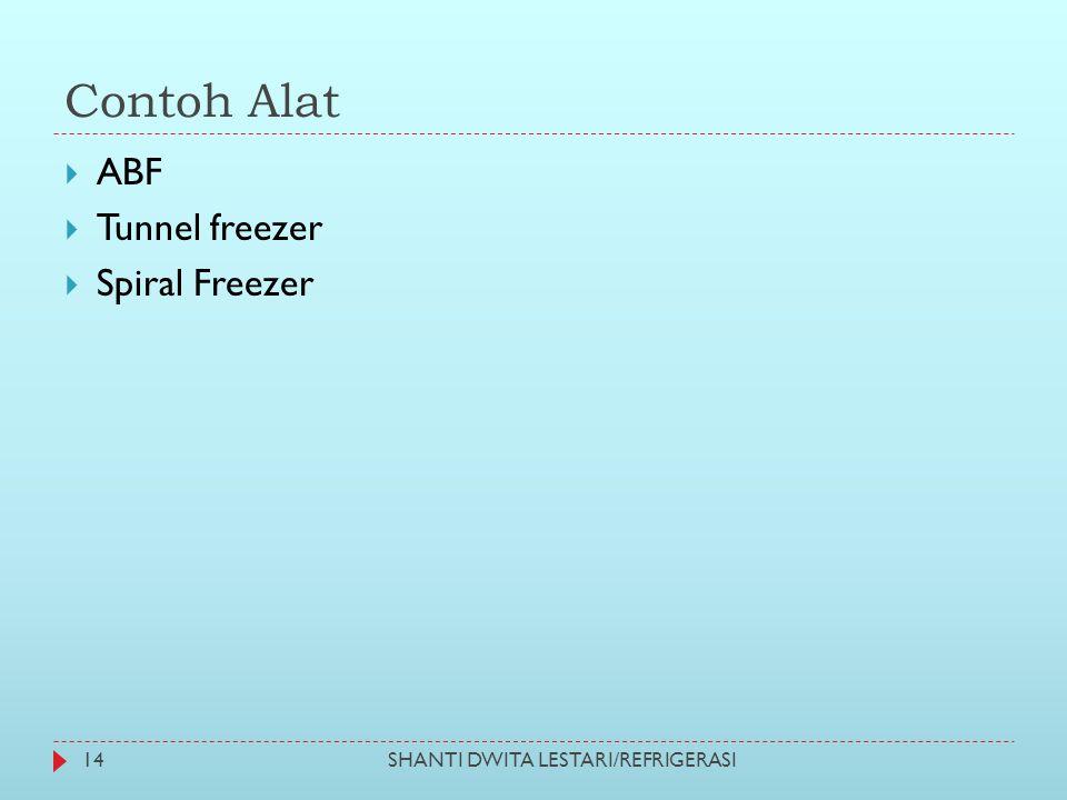 Contoh Alat ABF Tunnel freezer Spiral Freezer