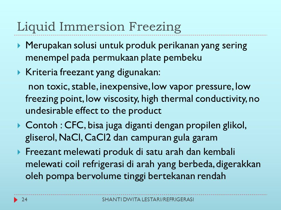 Liquid Immersion Freezing