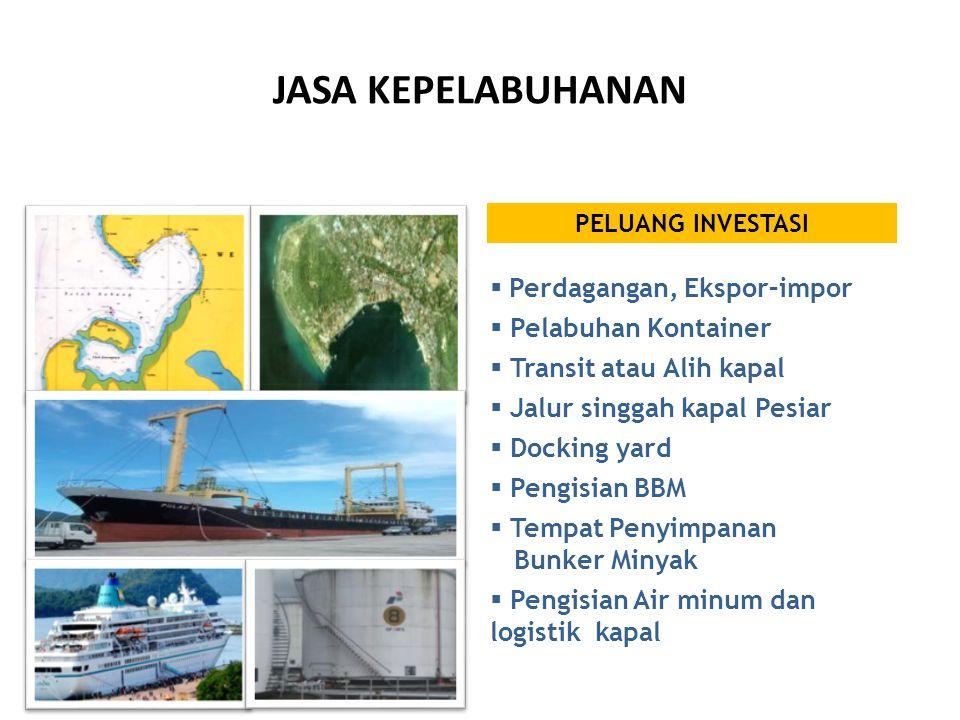 JASA KEPELABUHANAN Perdagangan, Ekspor–impor Pelabuhan Kontainer