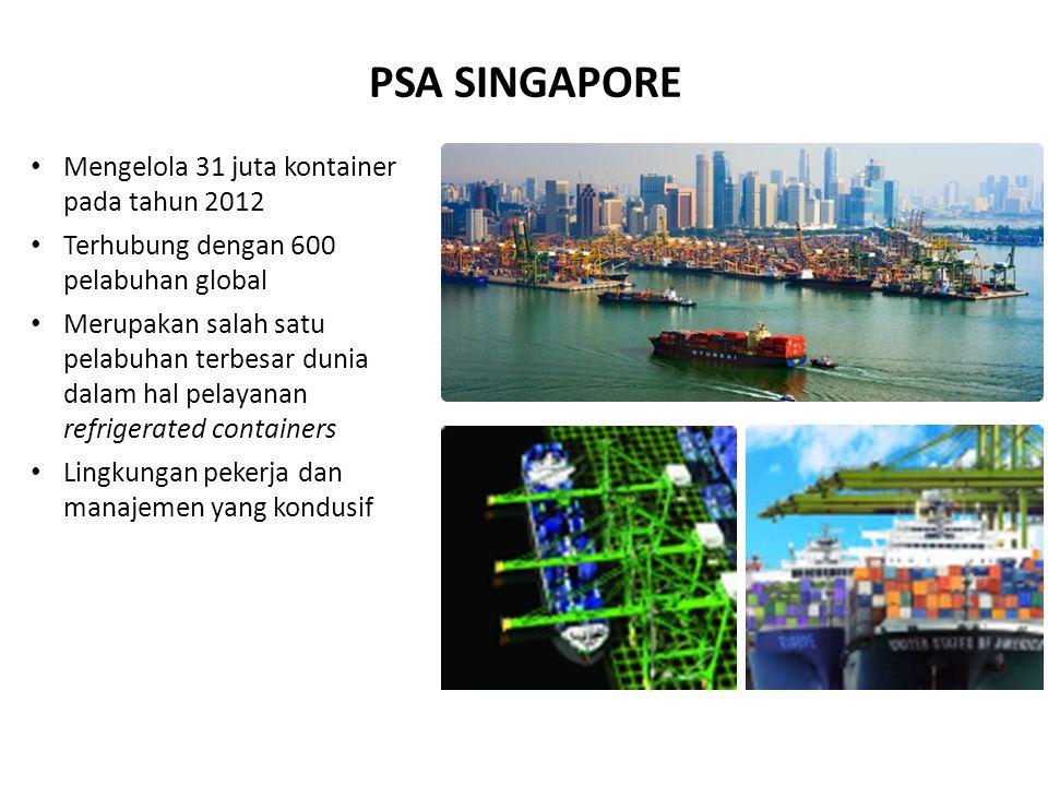 PSA SINGAPORE Mengelola 31 juta kontainer pada tahun 2012