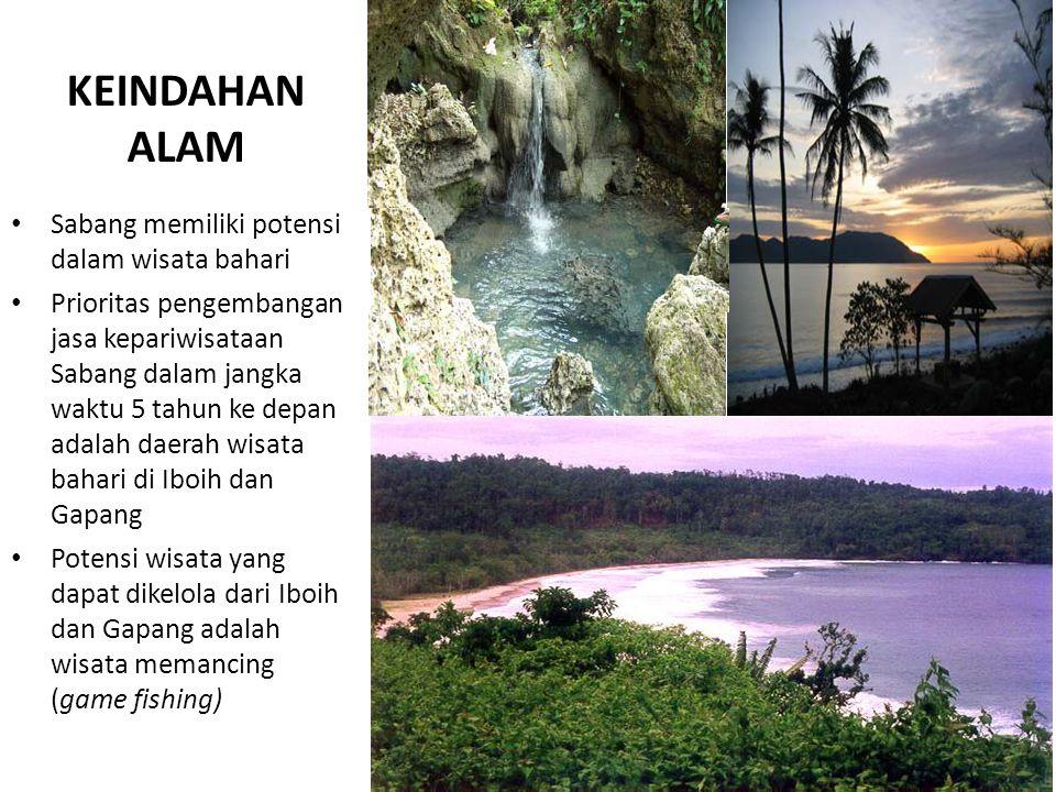 KEINDAHAN ALAM Sabang memiliki potensi dalam wisata bahari