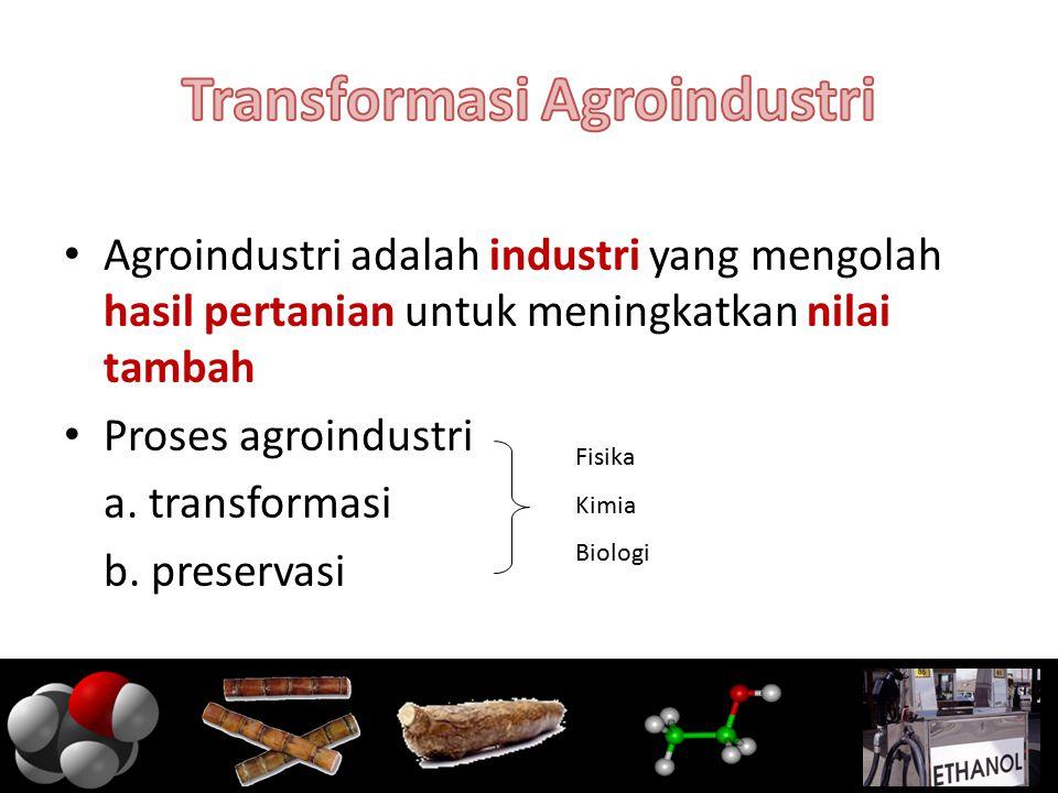 Transformasi Agroindustri