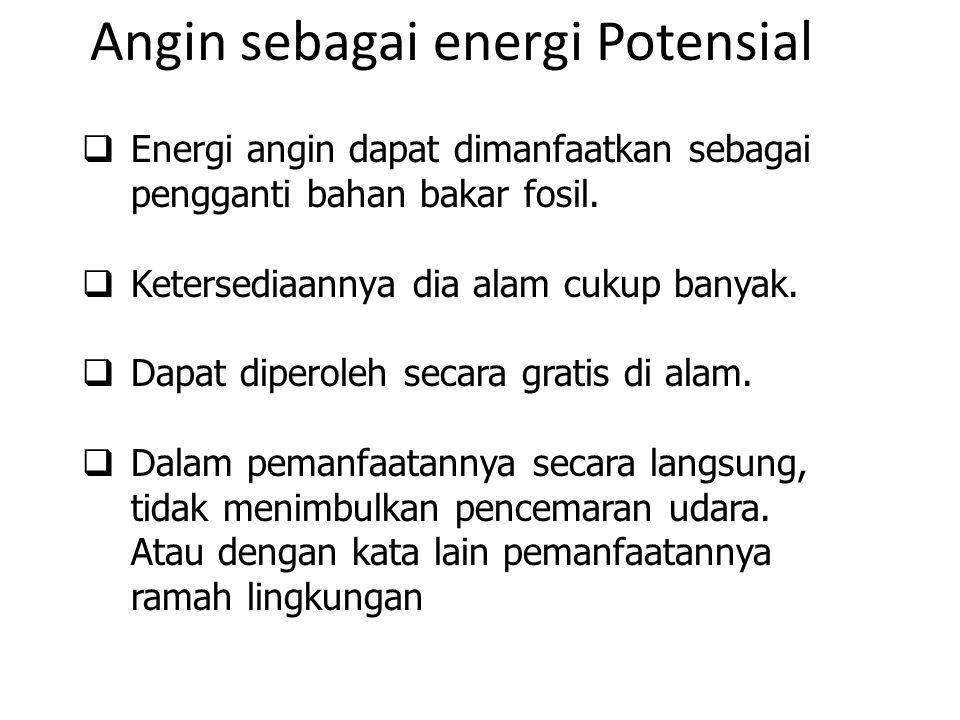 Angin sebagai energi Potensial