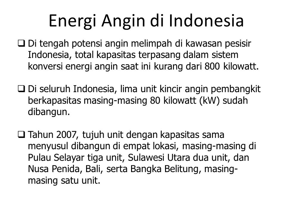 Energi Angin di Indonesia