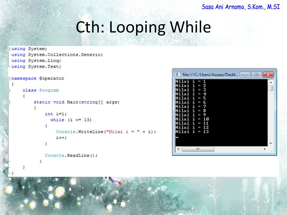 Cth: Looping While