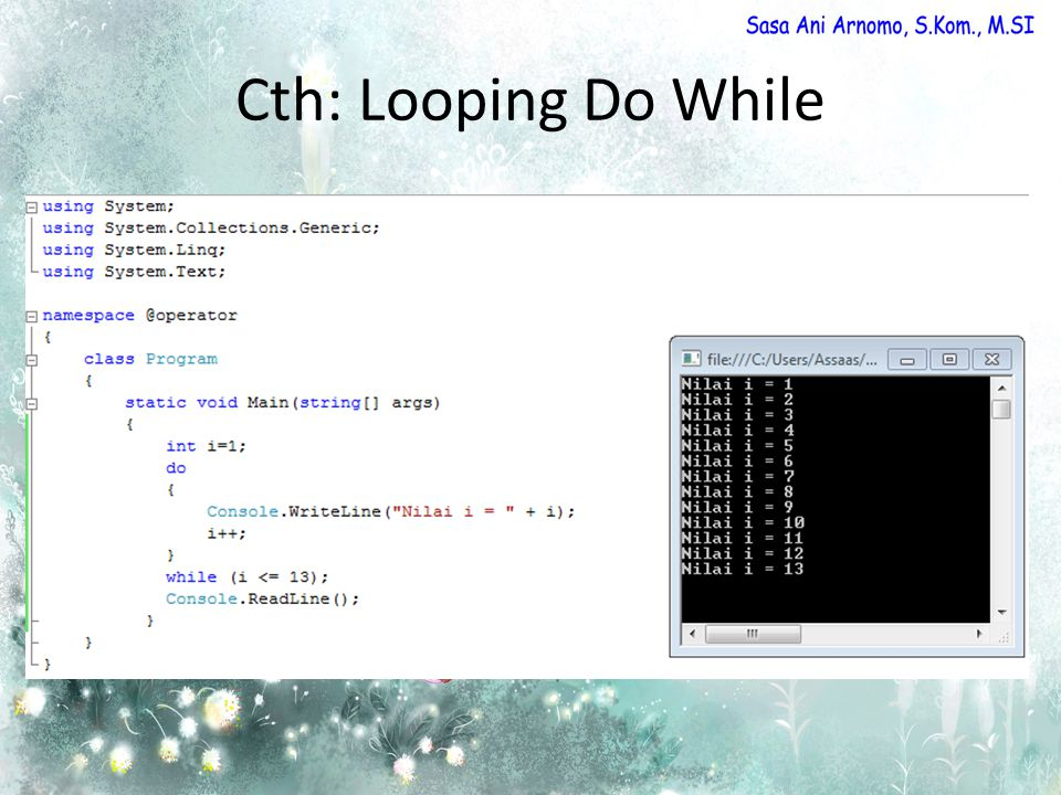 Cth: Looping Do While