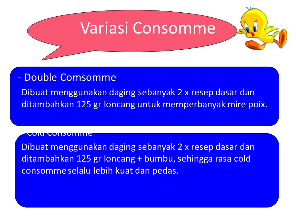 Variasi Consomme - Double Comsomme