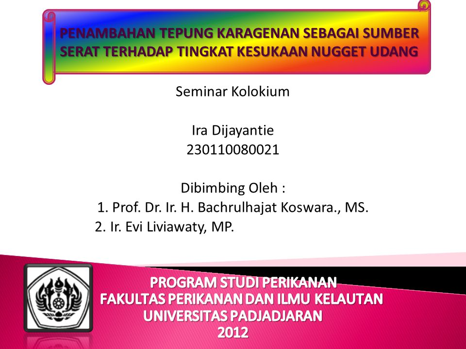 1. Prof. Dr. Ir. H. Bachrulhajat Koswara., MS.