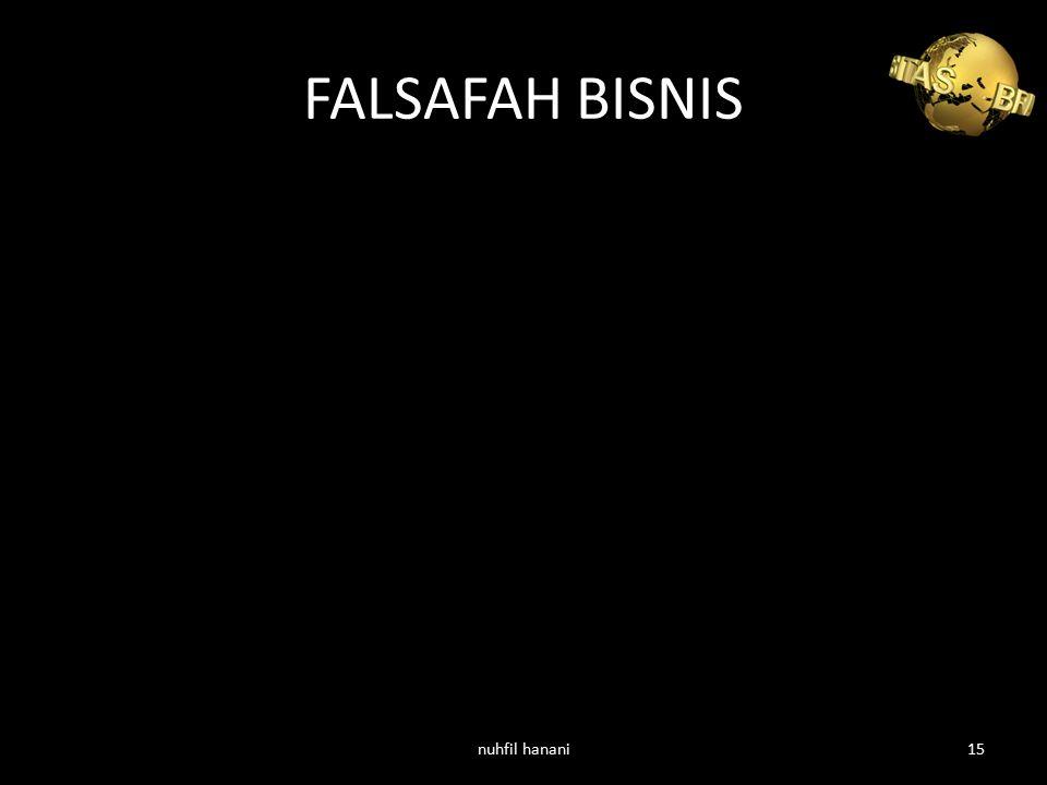 FALSAFAH BISNIS nuhfil hanani