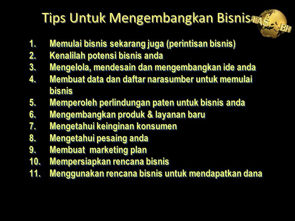Tips Untuk Mengembangkan Bisnis
