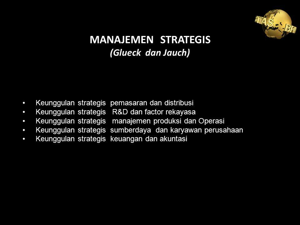 MANAJEMEN STRATEGIS (Glueck dan Jauch)
