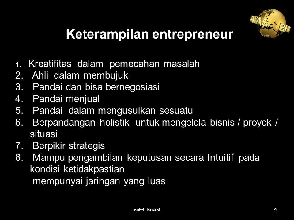 Keterampilan entrepreneur
