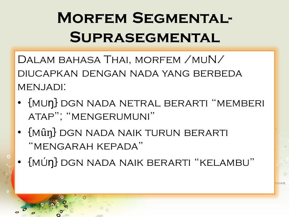 Morfem Segmental-Suprasegmental