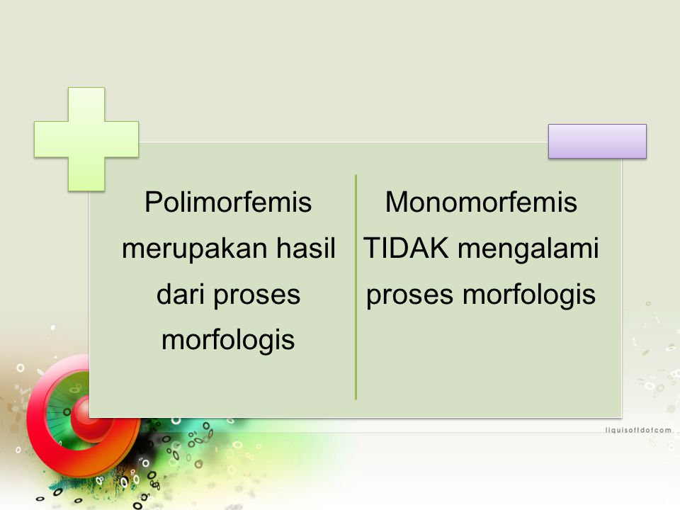Polimorfemis merupakan hasil dari proses morfologis