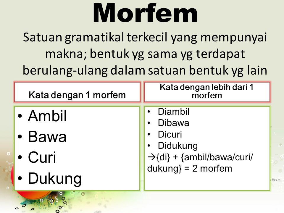 Kata dengan lebih dari 1 morfem