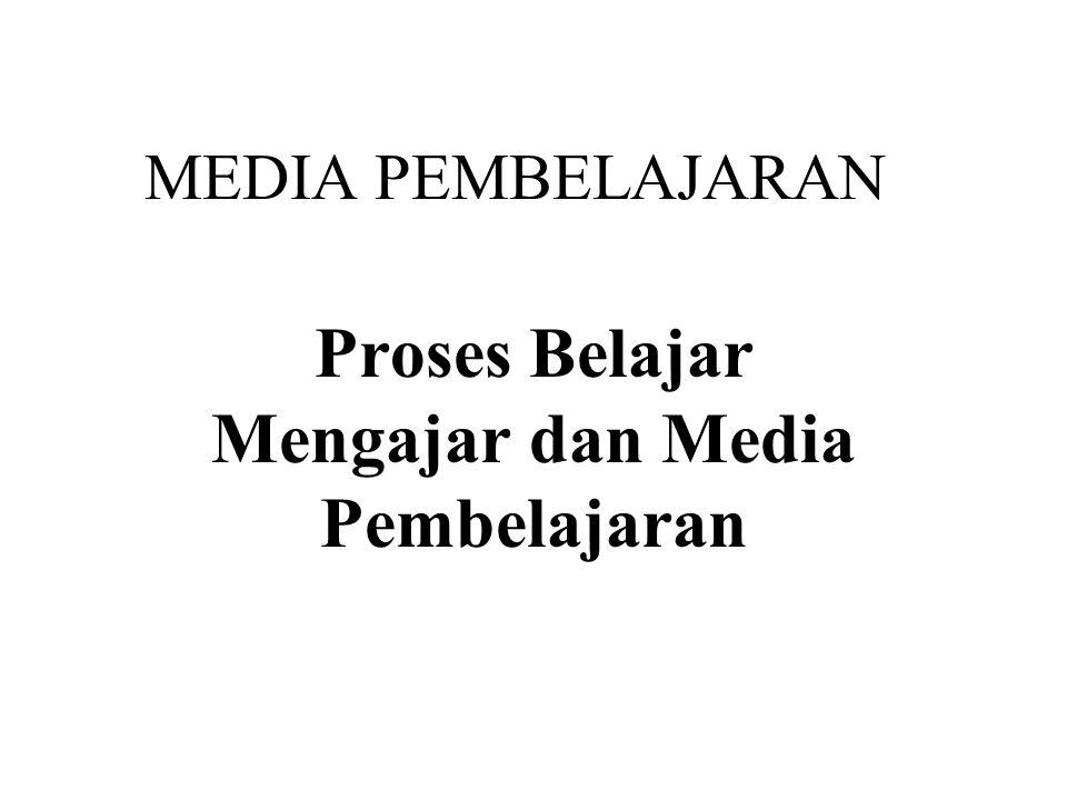 Proses Belajar Mengajar dan Media Pembelajaran