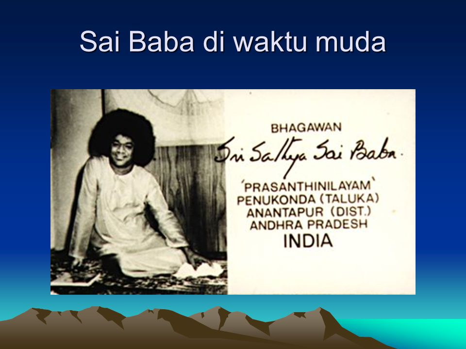 Begawan Shri Satya Sai Baba Sang Avatar