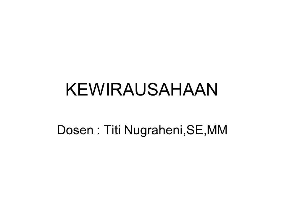 Dosen : Titi Nugraheni,SE,MM