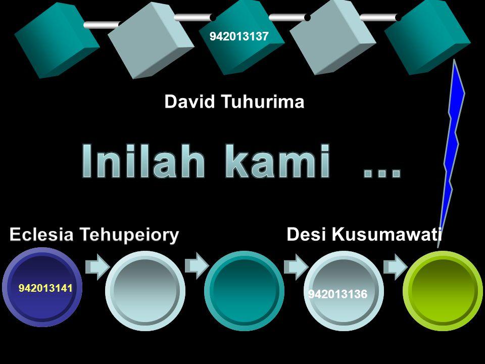 Inilah kami ... David Tuhurima Eclesia Tehupeiory Desi Kusumawati