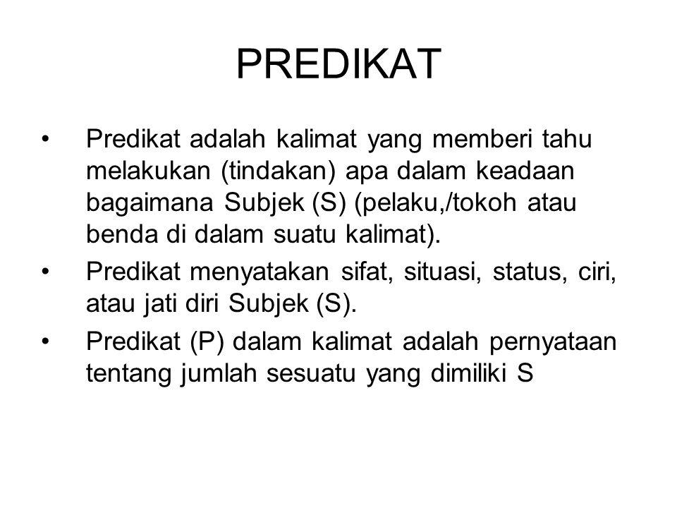 PREDIKAT