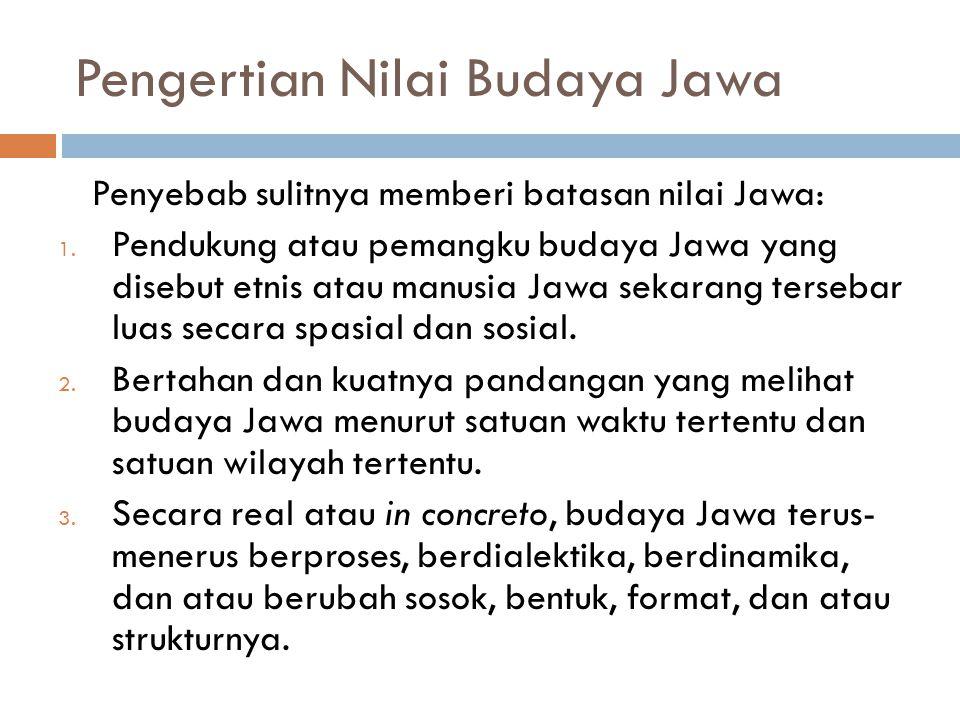 Pengertian Nilai Budaya Jawa