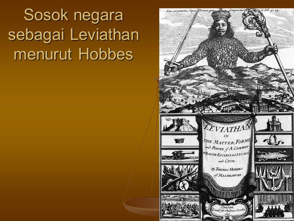 Sosok negara sebagai Leviathan menurut Hobbes