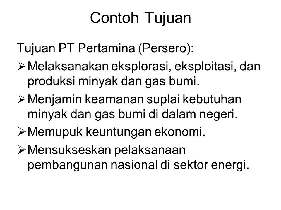Contoh Tujuan Tujuan PT Pertamina (Persero):